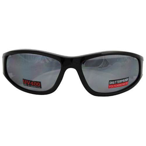 72-1520 - STAINLESS SAFETY  GLASSES - STEEL LENS