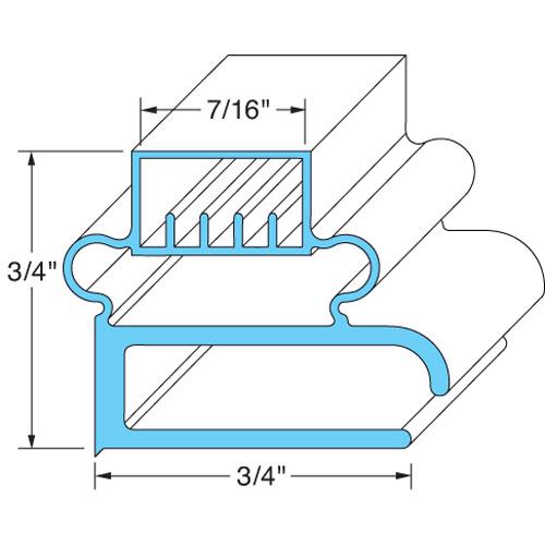 """74-1011 - DOOR GASKET 23-1/8"""" X 28-1/2"""""""