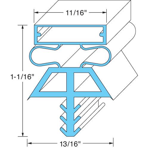 """74-1073 - DOOR GASKET 36 1/4"""" X 78"""""""