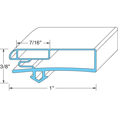 74-1208 - DOOR GASKET 25-1/4 W X 69-7/8 L D2