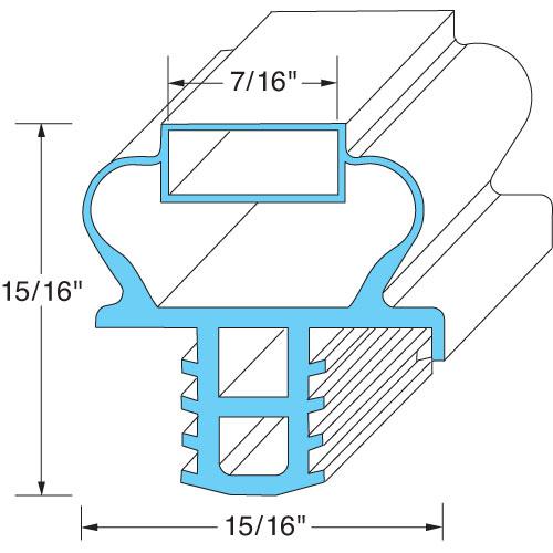"""74-1262 - DOOR GASKET 21 7/8"""" X 24"""""""