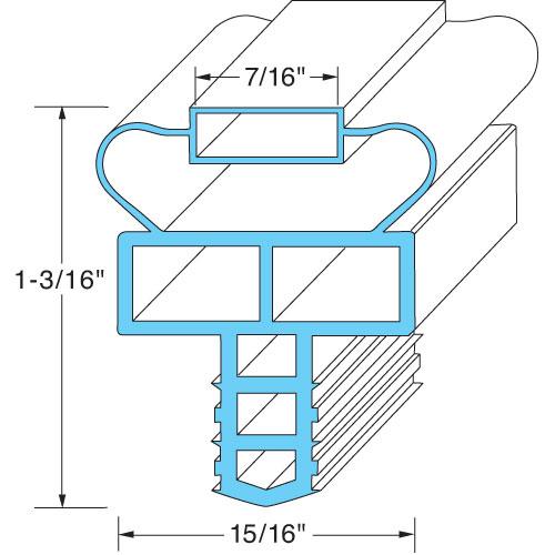 """74-1280 - DOOR GASKET 25 15/16"""" X 57 1/2"""""""
