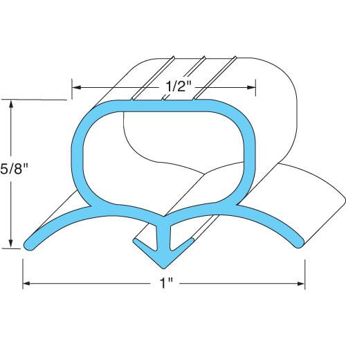 BEVERAGE-AIR - 712-025D-01 - DOOR END GASKET