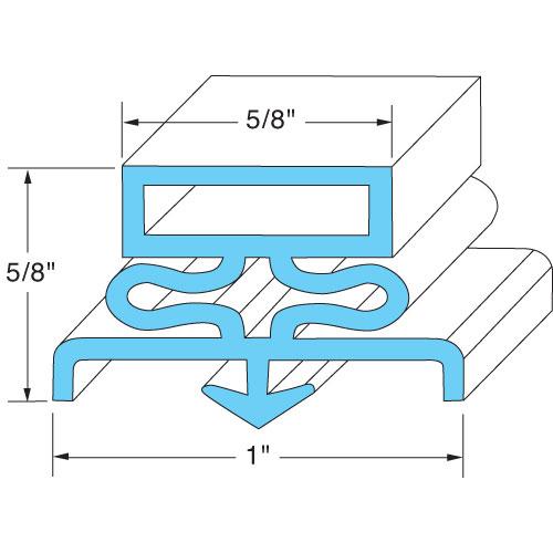 74-1309 - DOOR GASKET 8' SNAP-IN MAGNETIC