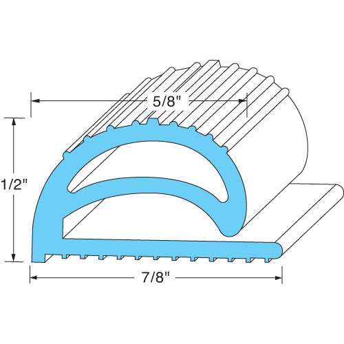 """74-1320 - COMPRESSION GASKET  1/2"""" HEIGHT,50'"""
