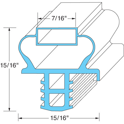74-1369 - DRAWER GASKET