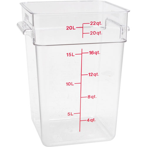 78-521 - CONTAINER SQ CLEAR 22QT