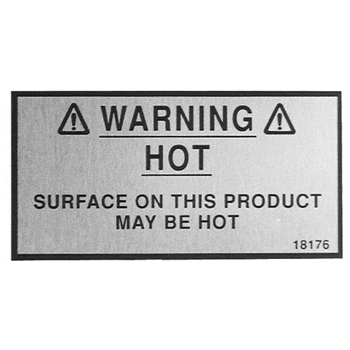 HENNY PENNY - 18176 - HP WARNING DECAL