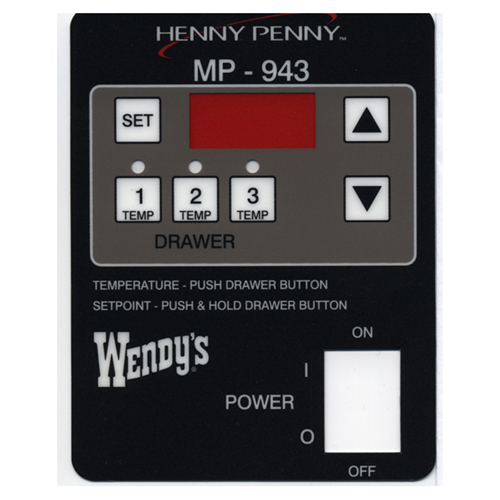 HENNY PENNY - 51561 - DECAL MP-943
