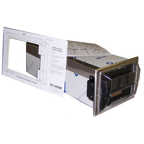800-9969 - NAPKIN DISPENSER S/S INCOUNTER PLASTIC TOP