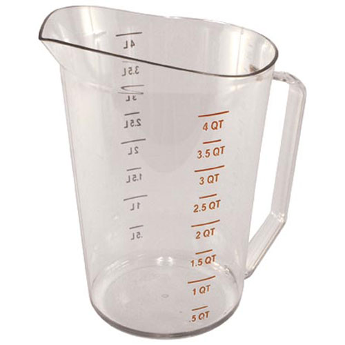 800-9998 - 4 QT  CLEAR PLASTIC PITCHER