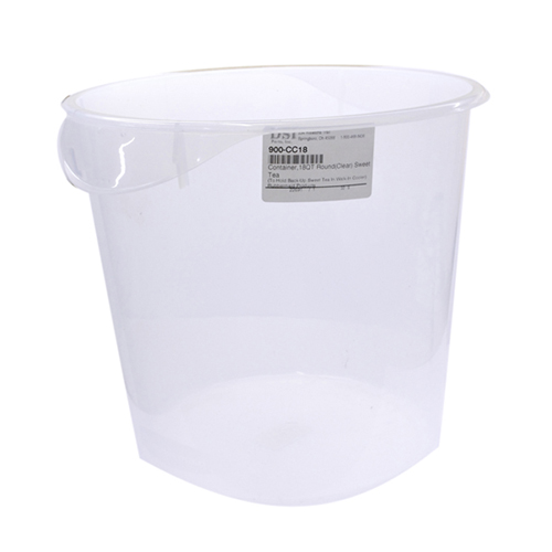 801-0000 - 18 QT CLEAR TEA BUCKET ROUND CLOUDY