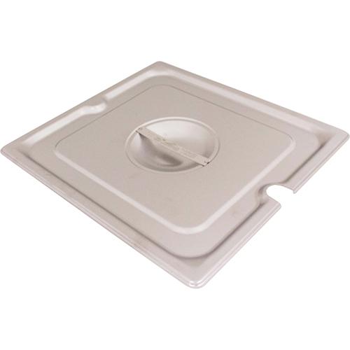 801-0022 - 2/3 PAN LID SS W/NOTCH