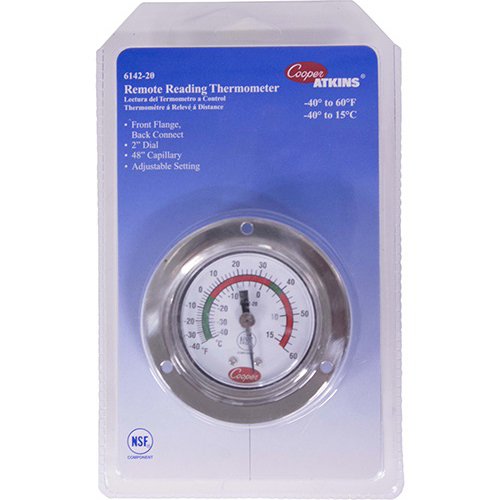 "801-0050 - THERMOMETER 2"" FRT RECES SED FLG.ANALOG"