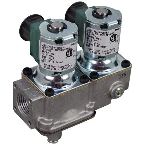 """HENNY PENNY - 87648-002 - VALVE, SOLENOID - DUAL GAS, NAT, 1/2"""" FPT"""