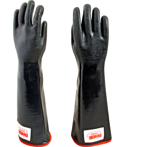 801-1150 - MITTS-OVEN, BLACK W/RED STRIP (BACON)