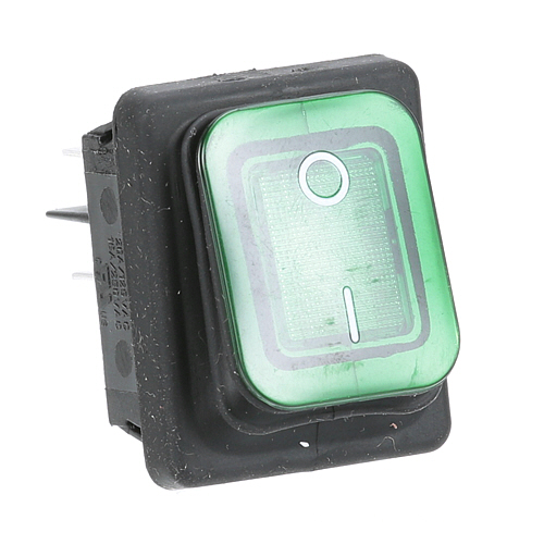 801-1842 - SWITCH - ROCKER,  LIGHTED (GREEN)