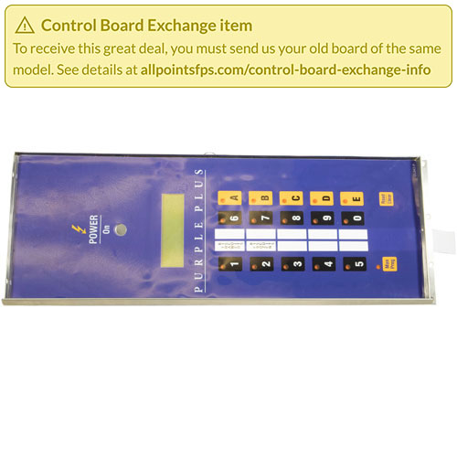 801-3166 - REFURB - CONTROL PANEL WITH LABEL, ECOH-PP