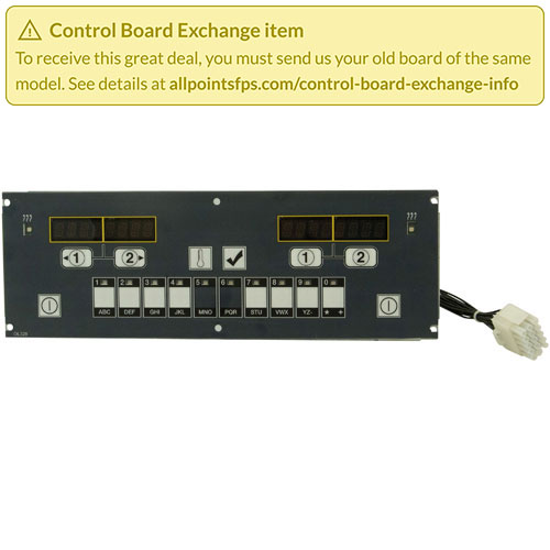 801-3382 - REFURB - CONTROL BOARD FLAT BEZEL - SINGLE-LANE
