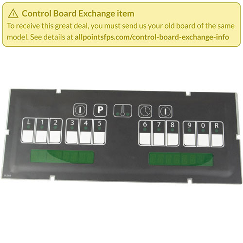 801-3398 - REFURB - SGL CONTROL GREEN BACK-LIGHT