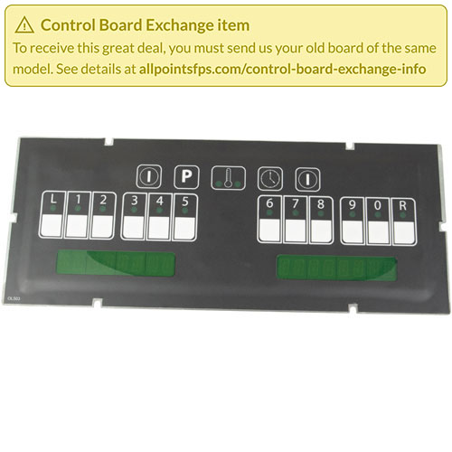 801-3404 - REFURB - CONTROL BOARD FLAT BEZEL - SINGLE-LANE
