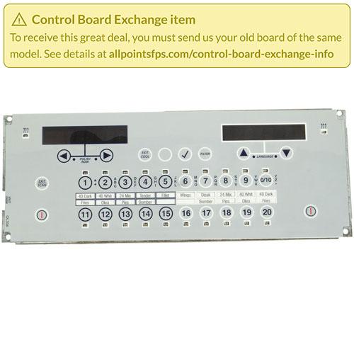 801-3466 - REFURB - CONTROL BOARD FLAT BEZEL - SINGLE-LANE