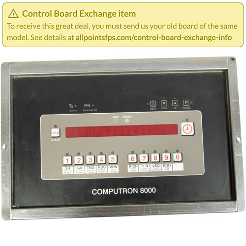 801-3518 - REFURB - C8000 CONTROL PANEL ASSEMBLY