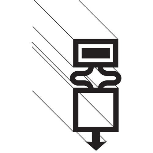 TRUE - 810884 - GASKET, DOOR, BLACK, TSSU/TUC/TWT