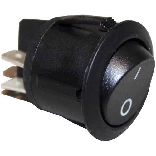 801-3892 - SWITCH, ROCKER, 2-POLE, ROUND