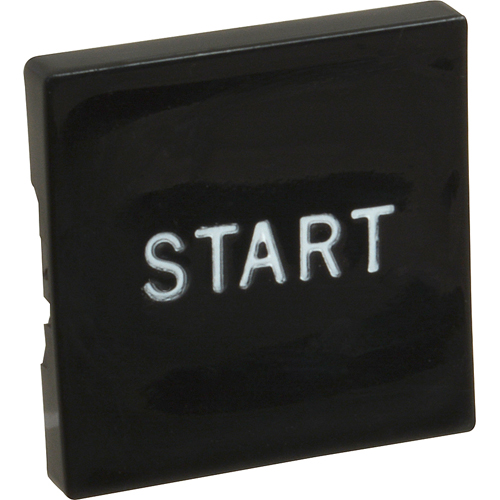 OLIVER - 5708-6100 - BUTTON, BLK/SQ W/ START MARKING