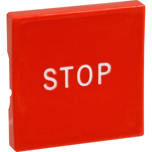 OLIVER - 5708-6116 - BUTTON, RED/SQ W/ STOP MARKING