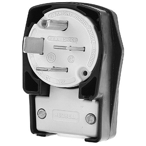 840-2214 - PLUG, 4-PRONG 50A/250 V  ANGLED