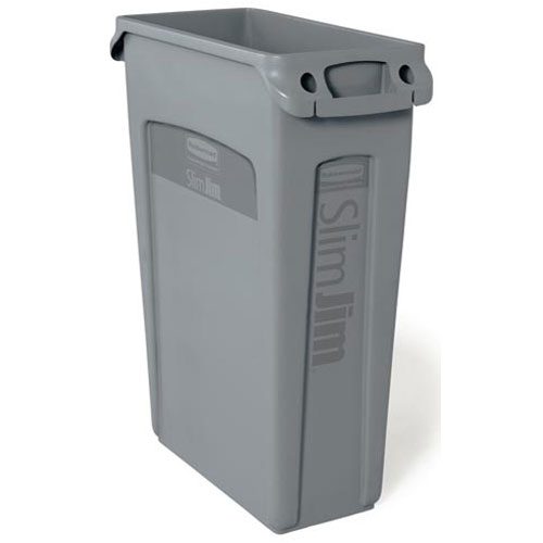 "840-5080 - TRASH CONTAINER- SLIM JIM, 23G/GREY (30"")"