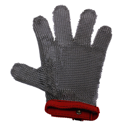 840-5133 - GLOVE STAINLESS STEEL MEDIUM (RED)
