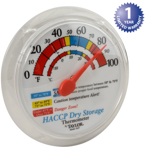 """TAYLOR PRECISION - 5637 - THERMOMETER (6""""OD,WALL,0/100F)"""