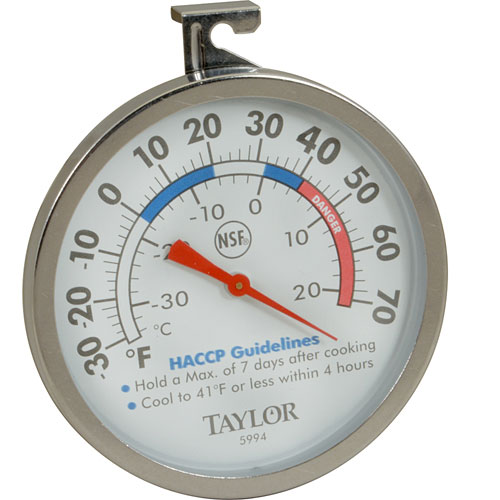 """TAYLOR PRECISION - 5994 - THERMOMETER(3""""OD DIAL,-30/70F)"""