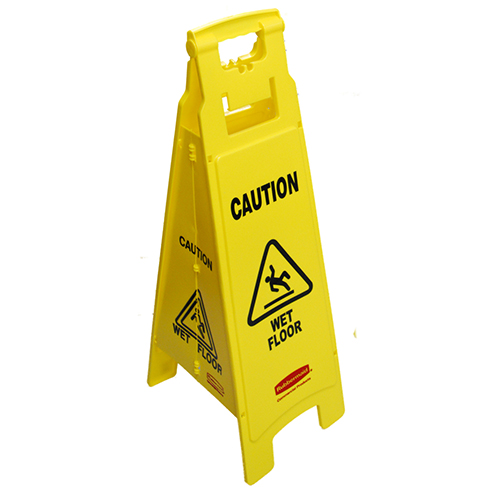 RUBBERMAID - FG611477YEL - WET FLOOR SIGN SANDWICH