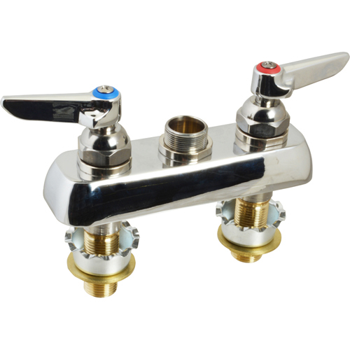 """T&S BRASS - B-1110-XS-LN MOD WITH CR - 4"""" DECK WORKBOARD FAUCET WITH CERAMICS"""