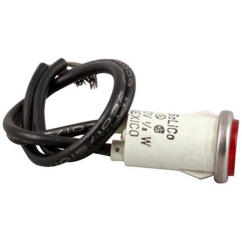 BAKERS PRIDE - P1168A - 250V RD 1/2 INDICATR LMP
