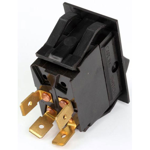 BLODGETT - 30464 - ROCKER DPST SWITCH MATT BLACK