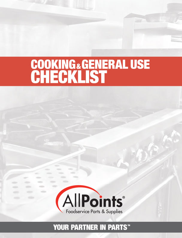 Cooking General Use Checklist