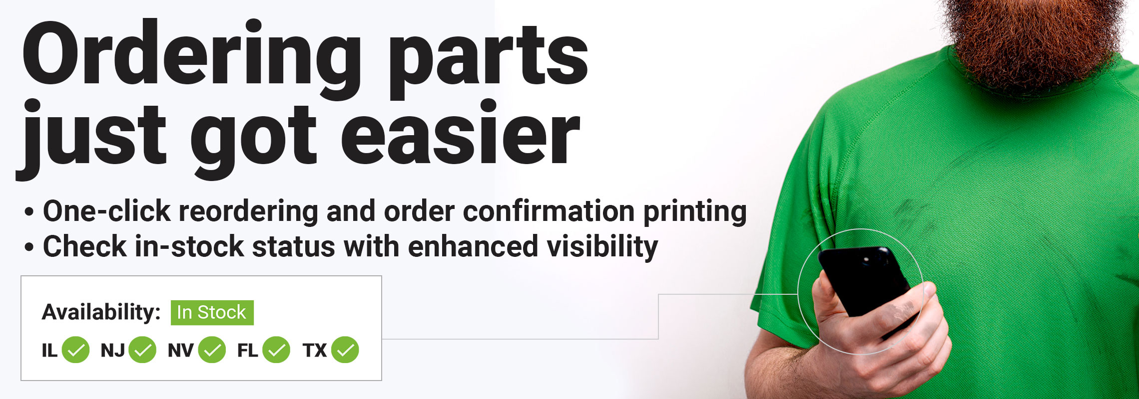 Ordering parts just got easier