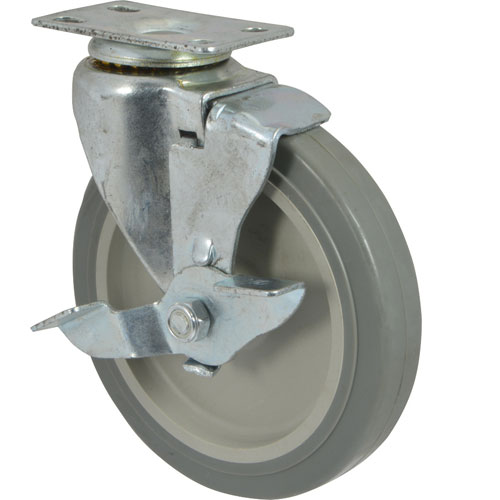 """CASTER,PLATE(5""""OD,W/BRAKE,GRAY FMP 120-1098 Replacement Parts Franklin"""