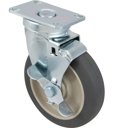 """CASTER,PLATE(5""""OD,W/BRAKE,GRAY FMP 120-1104 Replacement Parts Franklin"""