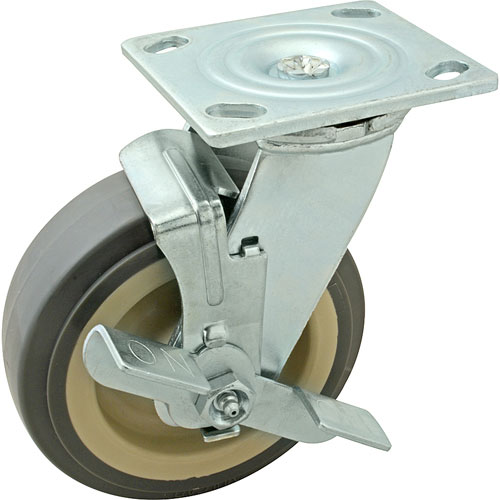 "CASTER,PLATE(6""OD,W/BRAKE,GRAY FMP 120-1151 Replacement Parts Franklin"