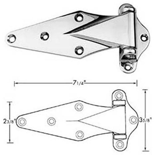 "HINGE (1-1/8"" OFST, 7-1/4""L) FMP 123-1077 Replacement Parts Franklin"