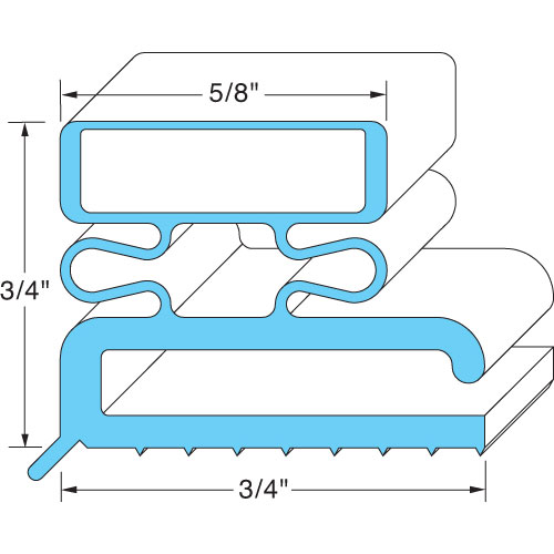 GASKET,MAGNETIC (8',GRAY) FMP 127-1033 Replacement Parts Franklin