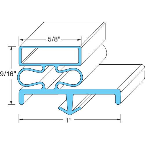 GASKET,REF(36-3/16X 77-1/4,3S) FMP 128-1008 Replacement Parts Franklin