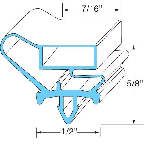 GASKET,REF (32-5/8 X 18-5/8) FMP 237-1159 Replacement Parts Franklin