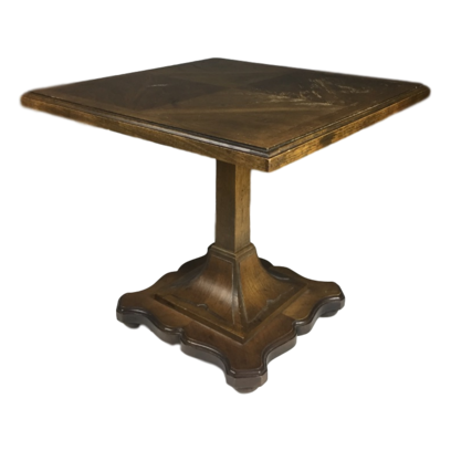 Mid Century Drexel Esperanto Pecan Pedestal Side Table Mcm